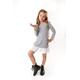 Sukienka dresowa z plisą dla dziewczynki szary melanż, do szkoły, na urodziny, sklep e-zgzak.pl