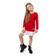 Sukienka dresowa z plisą dla dziewczynki czerwona, na urodziny, na różne okazje, sklep internetowy
