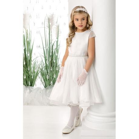 Dziewczęca sukienka pokomunijna Diana, na wesela, na komunie, ubranka dla dzieci, sklep e-zygzak.pl
