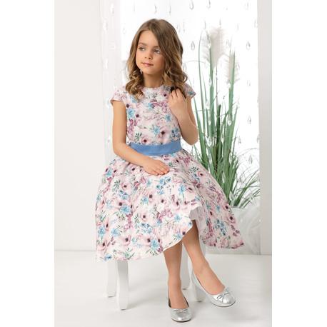 Sukienka dla dziewczynki Holly różowe kwiaty, na przebranie po koomunii, na wesela,sklep e-zygzak.pl