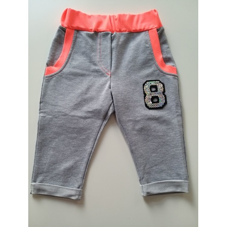 Szare spodnie 3/4 dla dziewczynki ANBOR