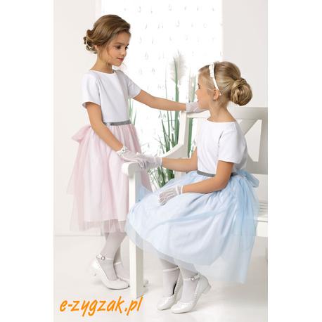 Różowa rozkloszowana sukienka dla dziewczynki Elena