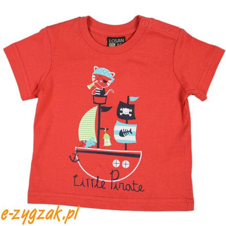 Czerwony t-shirt dla chłopca Losan