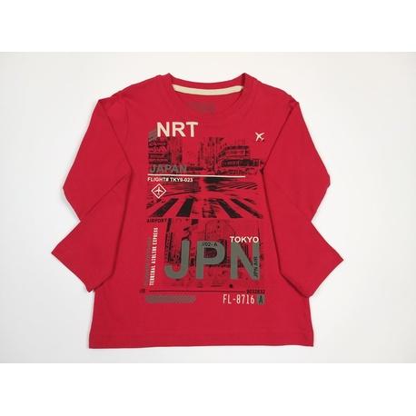 Czerwona bluza dla chłopca LOSAN, sportowa, mieciutka, bawełniana, e-zygzak.pl