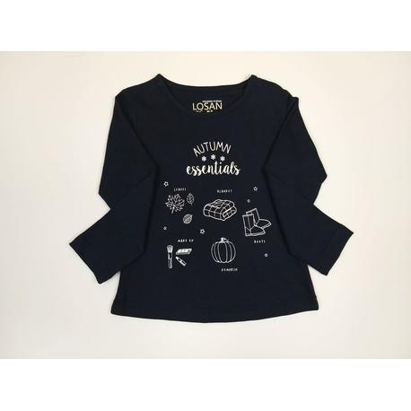 Granatowa bluzka dla dziewczynki LOSAN, bawelniana, do getrów, do jeansów, e-zygzak.pl