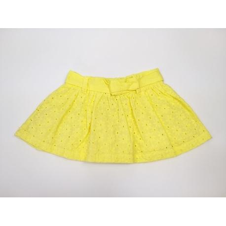 Spódniczka dziewczęca bawełniana żółta LOSAN, haftowana, na lato, sklep e-zygzak.pl