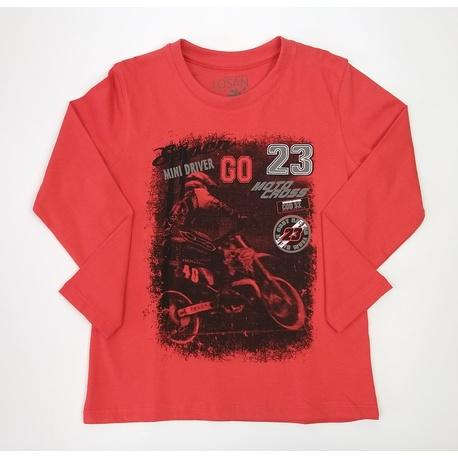 Czerwona bluza chłopięca LOSAN,bawełniana, do jeansów, sklep e-zygzak.pl