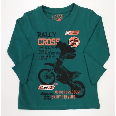 Zielona bluza chłopięca LOSAN,bawełniana, do jeansów, sklep e-zygzak.pl