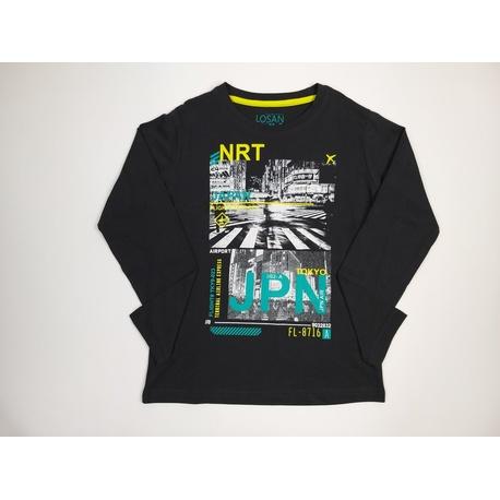 Bluza grafitowa dla chłopaka LOSAN, bawełniana, z nadrukiem, sklep internetowy