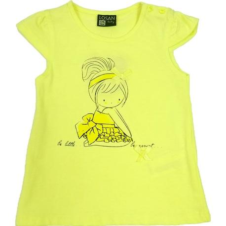 Żółta bluzka dla dziewczynki LOSAN, typu tunika, do getrów, sklep e-zygzak.pl