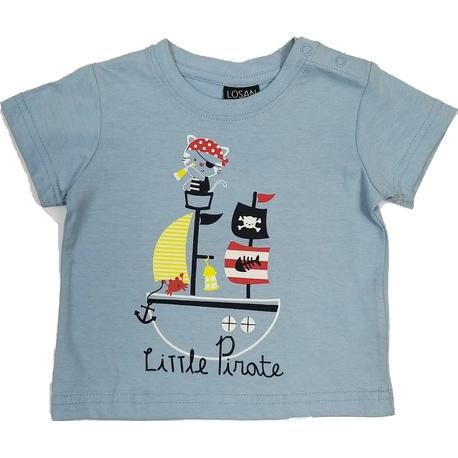 Błękitny t-shirt chłopiecy LOSAN, bawełniany, e-zygzak.pl