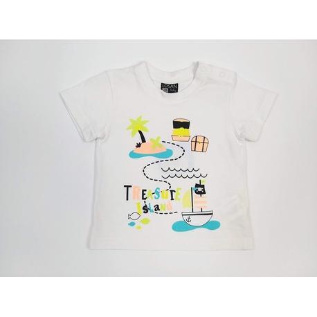 Biały t-shirt chłopięcy Losan, bawełniana, do szortów, e-zygzak.pl