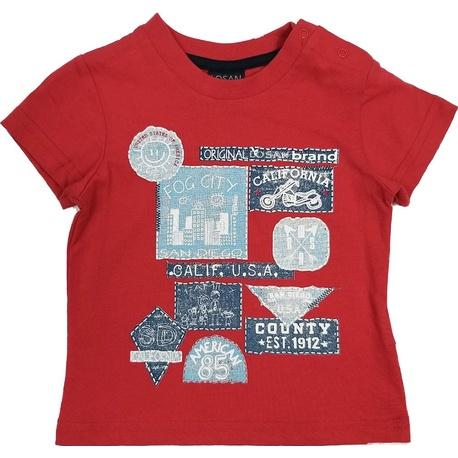T-shirt czerwony chłopięcy LOSAN, bawełniany, sklep e-zygzak.pl