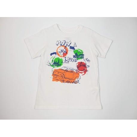 T-shirt chłopięcy biały LOSAN, bawełniany, do szortów, e-zygzak.pl