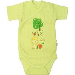 Body niemowlęce zakładane zielone, ubranko bawełniane, zapinane na napy, e-zygzak.pl