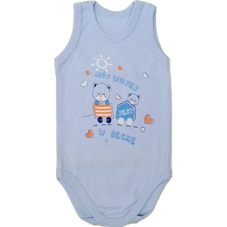 Body niemowlęce na ramiączkach niebieskie, bawełniane, wygodne i miękkie, e-zygzak.pl