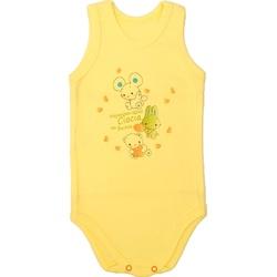 Body niemowlęce na ramiączkach żółte ,bawełniane, wygodne i miękkie, e-zygzak.pl