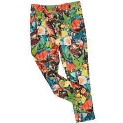 Spodnie długie dla dziewczynki wzorzyste, na lato , mięciutkie, e-zygzak.pl