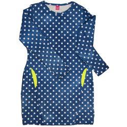 Sukienka dziewcęca jeans w kropeczki, z długim rękawem, sklep e-zygzak.pl