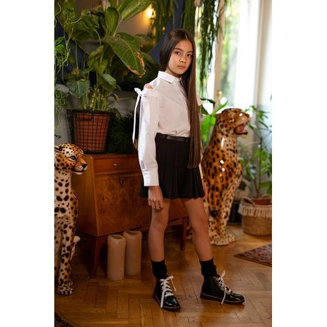 Bluzka dziewczęca wizytowa biała 103/S/20,galowa, szkolna,do spódnic, sklep e-zygzak.pl
