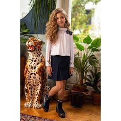 Wizytowa bluzka dziewczęca, szkolna 114/S/20, elegancka, szkolna, ubranka wizytowe, e-zygzak.pl
