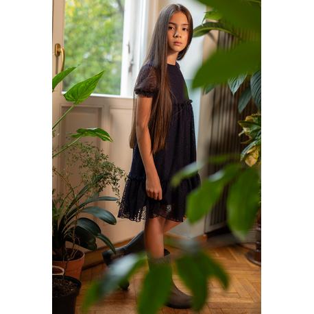 Elegancka koronkowa sukienka dla dziewczynki 210/J/20, do szkoły, wizytowa, e-zygzak.pl