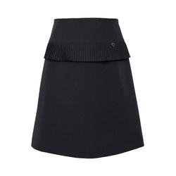 Dziewczęca spódnica z plisowana falbanką 309A/S/20, czarna, wizytowa, e-zygzak.pl
