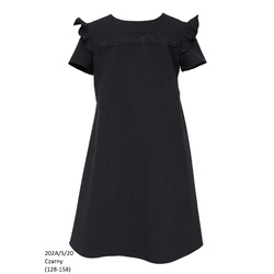 Szkolna sukienka dla dziewczynki z krótkim rękawkiem 202A/S/20, na galowo, ubranka wizytowe, sklep e-zygzak.pl