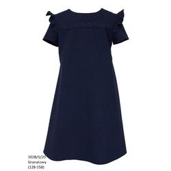 Szkolna sukienka dla dziewczynki z krótkim rękawkiem 202B/S/20, na galowo, ubranka wizytowe, sklep e-zygzak.pl