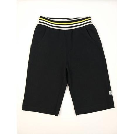Bermudy dla chłopca bawełniane czarne, do t-shirtów, na lato, na sportowo, e-zygzak.pl