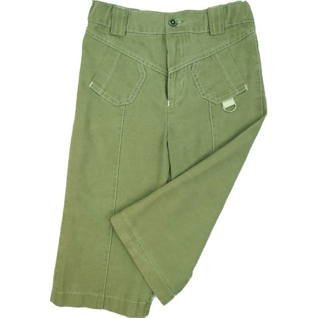 Oliwkowo-zielone letnie spodnie dla chłopca, bawełniane, ubranka dla dzieci, e-zygzak.pl