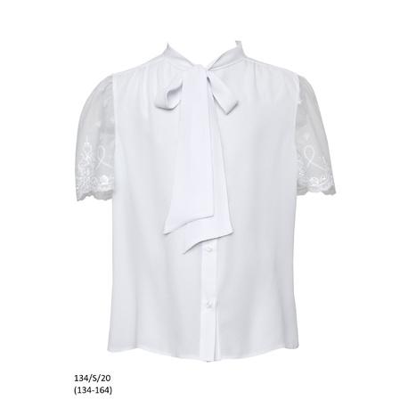 Bluzka dziewczęca z koronkowym rękawkiem 134/S/20, ubranka wizytowe dla dzieci, e-zygzak.pl