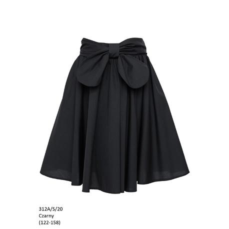 Szkolna spódniczka dla dziewczynki czarna 312A/S/20, ubranka wizytowe dla dzieci, e-zygzak.pl