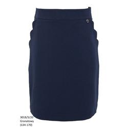 Granatowa spódniczka dziewczęca szkolna 301B/S/20, wizytowe ubranka dla dziewczynek, e-zygzak.pl