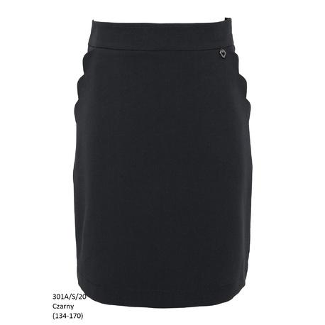 Czarna spódniczka dziewczęca szkolna 301A/S/20, wizytowe ubranka dla dziewczynek, e-zygzak.pl