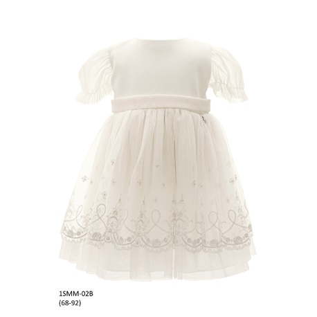 Tiulowa sukienka niemowlęca do Chrztu 1/SMM/02B, wizytowa, elegancka, ubranka dla dzieci, sklep e-zygzak.pl
