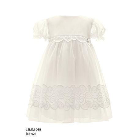Tiulowa sukienka niemowlęca do Chrztu 1/SMM/03B, wizytowa, elegancka, ubranka dla dzieci, sklep e-zygzak.pl
