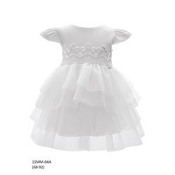Tiulowa sukienka niemowlęca do Chrztu 1/SMM/04A, wizytowa, elegancka, ubranka dla dzieci, sklep e-zygzak.pl