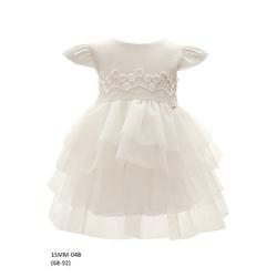 Tiulowa sukienka niemowlęca do Chrztu 1/SMM/04B, wizytowa, elegancka, ubranka dla dzieci, sklep e-zygzak.pl