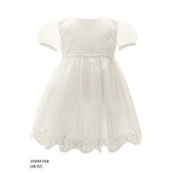 Tiulowa sukienka niemowlęca do Chrztu 1/SMM/05B, wizytowa, elegancka, ubranka dla dzieci, sklep e-zygzak.pl