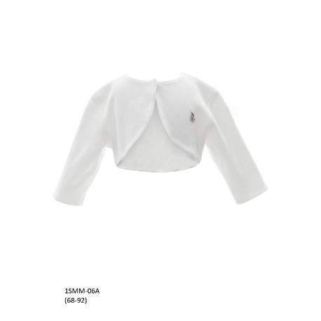 Białe bolerko do Chrztu Świętego 1/SMM/-06A, eleganckie, bawełniane, ubranka wizytowe dla dzieci, sklep