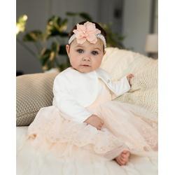 Białe bolerko do Chrztu Świętego 1/SMM/-06B, eleganckie, bawełniane, ubranka wizytowe dla dzieci, sklep