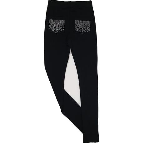 Legginsy dla dziewczynki czarne, wygodne ubranka dla dzieci, sklep e-zygzak.pl