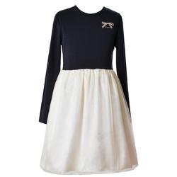 Dzianinowa sukienka dziewczęca z długim rękawem Veronica, wygodne ubranka dla dzieci, sklep e-zygzak.pl
