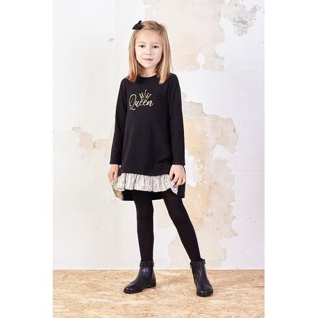 Bawełniana sukienka dla dziewczynki Sabina czarna, wygodne ubranko dla dziewczynki, e-zygzak.pl