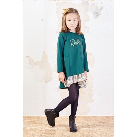 Bawełniana sukienka dla dziewczynki Sabina zielona, wygodne ubranko dla dziewczynki, e-zygzak.pl