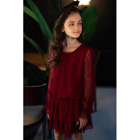 Dziewczęca sukienka w sylu Boho 0AW-11B, wygodne ubranka dla dziewczynek, sklep e-zygzak.pl