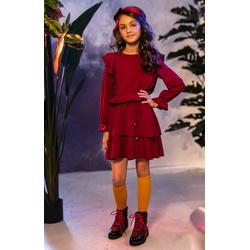 Sukienka dla dziewczynki w stylu Boho z falbanami 0AW-03B, wygodne ubranka dla dziewczynek, sklep e-zygzak.pl
