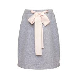 Dzianinowa spódnica dla dziewczynki w szarym kolorze 0AW-35A, lifestyle, ubranka dla dziewczynek, e-zygzak.pl