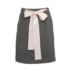 Dzianinowa spódnica dla dziewczynki w szarym khaki 0AW-35B, lifestyle, ubranka dla dziewczynek, e-zygzak.pl